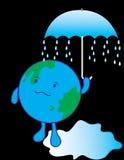 Global Warming. On white background Royalty Free Stock Photo