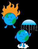 Global Warming. On white background Royalty Free Stock Images