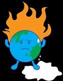 Global Warming. On white background Stock Image