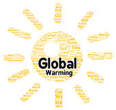 Global warming word cloud shape Stock Images