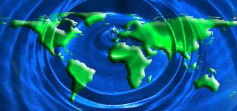 Global water concept Stock Photography
