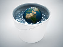 Global water concept. 3d high quality rendering Royalty Free Stock Photos