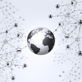 Global Web Black and White Background Stock Photo