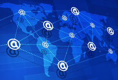 Global Web Connections Royalty Free Stock Image