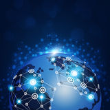 Global Web Connections Stock Image