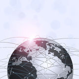 Global Web Connections Technology Background Stock Image