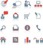 Global web icon set on white Royalty Free Stock Photos