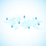 Global web network community Royalty Free Stock Photos