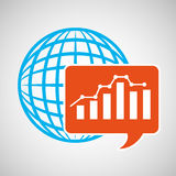 Global web network graphics statistics icon Stock Images