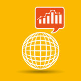 Global web network graphics statistics icon Royalty Free Stock Images