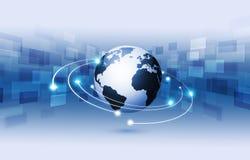 Global Web Technology Blue Background Royalty Free Stock Photo