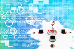 Global Wifi computer network Royalty Free Stock Photo
