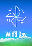 Global Wind Day 2017, June 15 Stock Photo