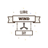 Global Wind Day. Vector illustration. Stock Photos
