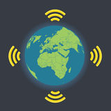 Global wireless connection illustration Royalty Free Stock Images