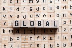Global word concept royalty free stock photos