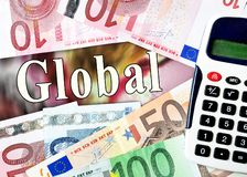 Global word with money Stock Images