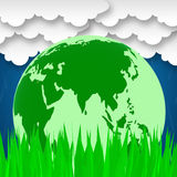 Global Word Represents Rural Planet And Worldly Royalty Free Stock Photo