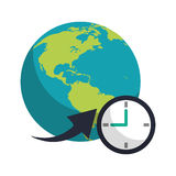 Global world around clock business concept. Vector illustration eps 10 Stock Photos