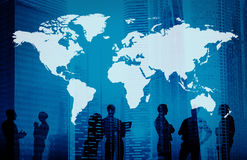 Global World Cartography Business International Concept. Business People Global World Cartography stock photo