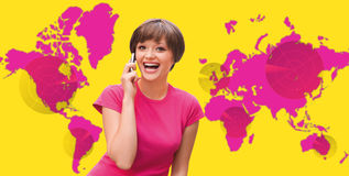 Global world communications Stock Images