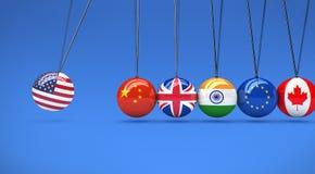 Global World Economy Relationships International Cradle Royalty Free Stock Image
