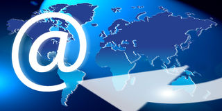 Global world email stock illustration