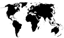 Global world map royalty free stock images