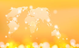 Global world map illustration. Royalty Free Stock Photo