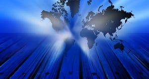Global world Map technology banner.Business Technology Background. royalty free illustration
