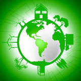Global World Means Earth Day And Eco Royalty Free Stock Image