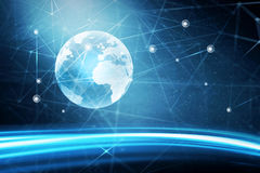 Global world network background Stock Photography