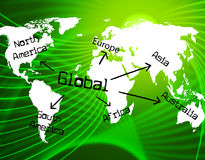 Global World Represents Commercial Trade And Corporate Royalty Free Stock Images