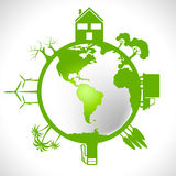 Global World Shows Earth Day And Conservation Royalty Free Stock Photos