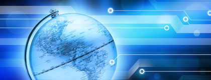 Global World Technology Background Royalty Free Stock Photo