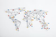 Global World Trade Network. White background royalty free stock images
