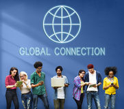 Global Worldwide Connection World International Concept Royalty Free Stock Image