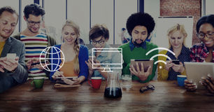 Global Worldwide Digital Modern Connection Concept Stock Images