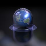Global worming. Highly detail earth under the glass bell Stock Image