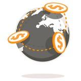 Globala betalningar vektor illustrationer