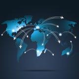 Globala destinationer för flyg royaltyfri illustrationer