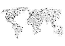 Globala eller världsanslutningar royaltyfri illustrationer