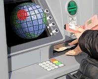 Globala finansiella anslutningar Royaltyfria Foton