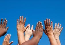 globala händer för frihet Royaltyfri Fotografi