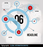 Globala Infographic vektor illustrationer