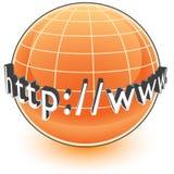 globala internet för adress stock illustrationer