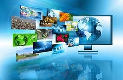 globala internet för bäst affärsidé jordklot Royaltyfri Foto