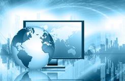 globala internet för bäst affärsidé jordklot Arkivfoton