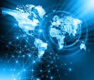 globala internet för bäst affärsidé jordklot vektor illustrationer