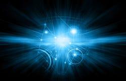 globala internet för bäst affärsidé teknologisk bakgrund Rays symboler Wi-Fi, av internet, television stock illustrationer